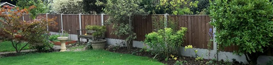 Fencing with concrete posts