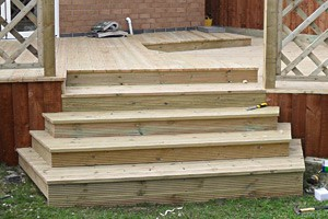 Decking during installation