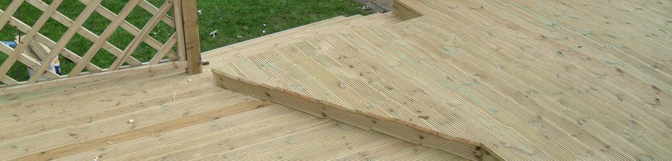 Decking with different levels
