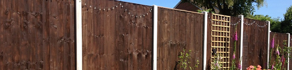 Dark finishes fence panels