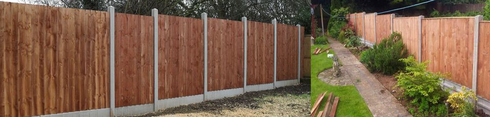 Fencing with garden design