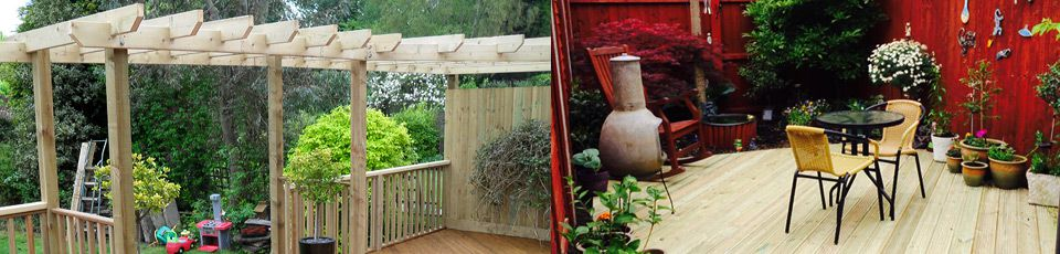 Pergola above decking entrance
