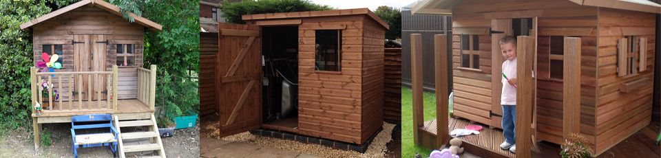 Variety of shed designs & playhouses